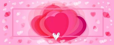 Счастливая предпосылка сердец пинка дня валентинок Стоковые Фото
