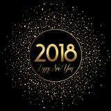 Счастливая предпосылка confetti Нового Года Стоковые Фотографии RF
