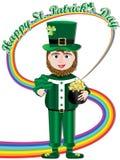 Счастливая радуга Card_eps дня Patricks святой Стоковое фото RF