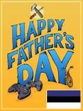 Счастливая рогулька дня отцов стоковое изображение rf