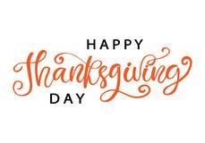 Счастливая рука официальный праздник в США в память первых колонистов Массачусетса написанная изолированную литерность, на белизн Стоковые Изображения RF
