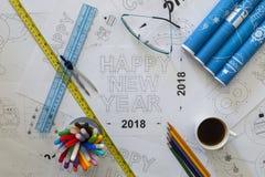 Счастливая светокопия Нового Года Стоковое Изображение RF