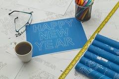 Счастливая светокопия Нового Года Стоковая Фотография