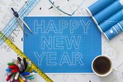 Счастливая светокопия Нового Года Стоковые Фотографии RF