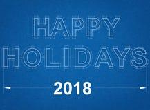 Счастливая светокопия праздников 2018 Стоковое Изображение