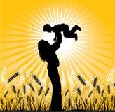 Счастливая семья, вектор Стоковая Фотография RF