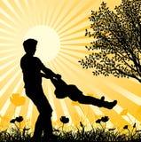Счастливая семья, вектор Стоковые Фото
