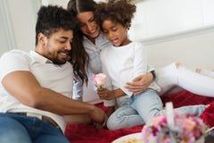 Счастливая семья имея времена потехи Стоковое Изображение