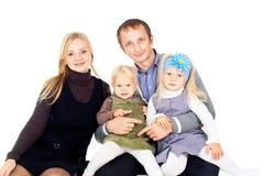 Счастливая семья с дет стоковое фото rf