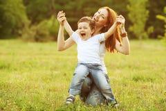 Счастливая семья Стоковое фото RF