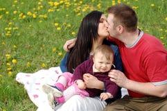 Счастливая семья Стоковые Изображения