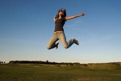счастливая скачка Стоковое Изображение RF