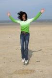 счастливая скачка Стоковая Фотография