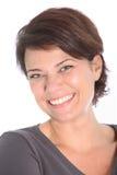 Счастливая ся женщина брюнет стоковое фото