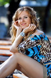 счастливая ся женщина Стоковая Фотография