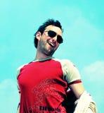 счастливая усмешка человека ультрамодная Стоковая Фотография RF