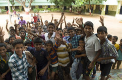 Счастливая школа ребенк-Индия Стоковое Изображение RF