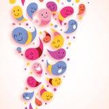 счастливое абстрактных характеров предпосылки цветастое Стоковые Изображения