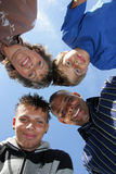 счастливое американской семьи немецкое Стоковые Фото
