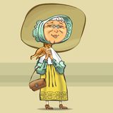 Счастливое бабушки добросердечное радостное нарисованное в векторе бесплатная иллюстрация