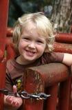 счастливое белокурого мальчика с волосами Стоковое Изображение