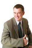 счастливое бизнесмена указанное вверх Стоковое Фото