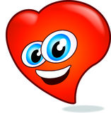 счастливое Валентайн сердца Стоковые Изображения RF