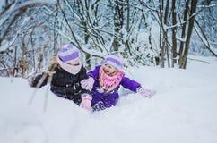 Счастливое время в зимнем времени стоковое фото rf