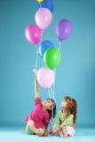 счастливое детей цветастое Стоковое Изображение