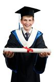 счастливое диплома постдипломное Стоковое Изображение