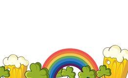 Счастливое знамя вектора дня Patrick Стоковые Изображения