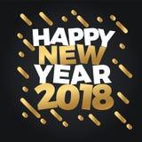 Счастливое знамя иллюстрации продажи скидки Нового Года 2018 Дизайн плаката торжества партии фейерверков ночи Нового Года Стоковая Фотография
