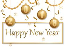 Счастливое золото 2018 и чернота Нового Года бесплатная иллюстрация