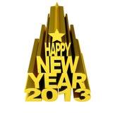 Счастливое золото 2012 Новый Год Стоковая Фотография RF