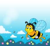 Счастливое изображение 2 темы пчелы весны Стоковая Фотография RF