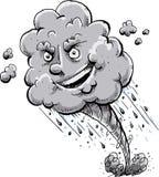 Счастливое и среднее облако торнадо иллюстрация вектора