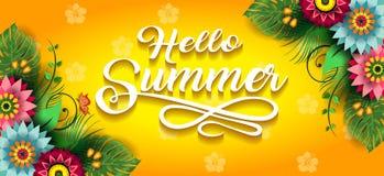 Счастливое лето цветет знамя f Стоковые Изображения