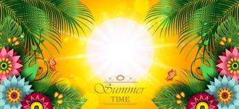 Счастливое лето цветет знамя h Стоковые Фото