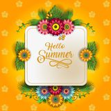Счастливое лето цветет e Стоковые Изображения