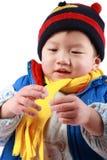 счастливое мальчика китайское стоковое изображение