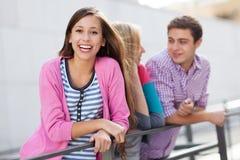 Счастливое молодые люди стоковая фотография