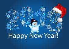Счастливое Новый Год 2013. Голубая предпосылка Стоковое Изображение