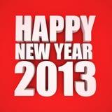 Счастливое Новый Год 2013 иллюстрация штока