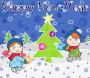 счастливое Новый Год Стоковые Фотографии RF