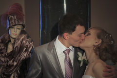 счастливое пар пожененное заново Стоковая Фотография