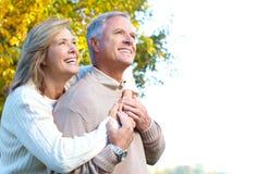 счастливое пар пожилое Стоковое Фото