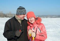 счастливое пар пожилое Стоковое Изображение