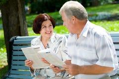 счастливое пар пожилое Стоковые Изображения RF