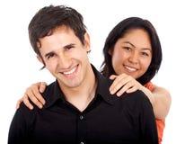 счастливое пар разнообразное Стоковое фото RF