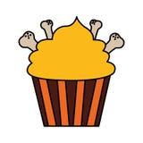Счастливое пирожное хеллоуина иллюстрация вектора